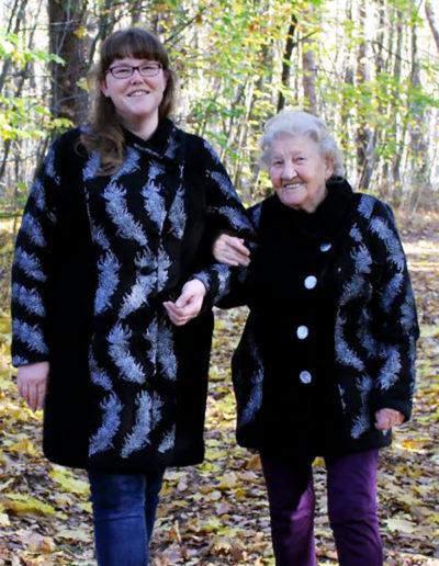 Mantel und Jacke Gr. 50 und 46