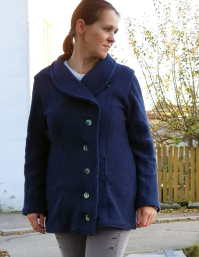 Natalja blaue Wolljacke Gr. 38 40