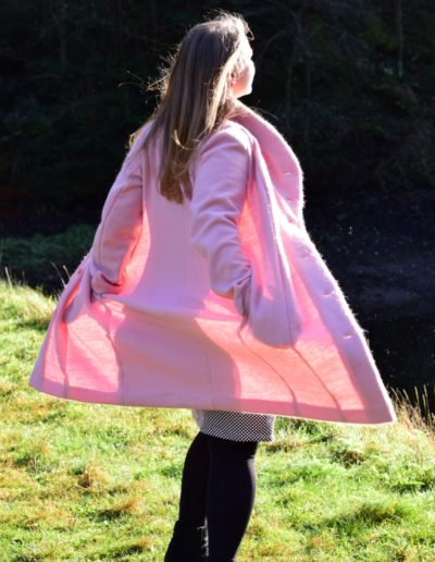 Gr. 46-48 Wollwalk rosa Rücken