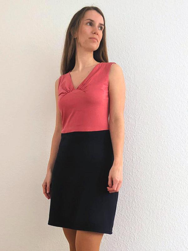 36-38 Kleid gerade 2 Teilig