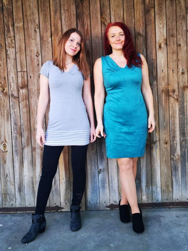 36-42 P Kleid gerade mini+Kurz