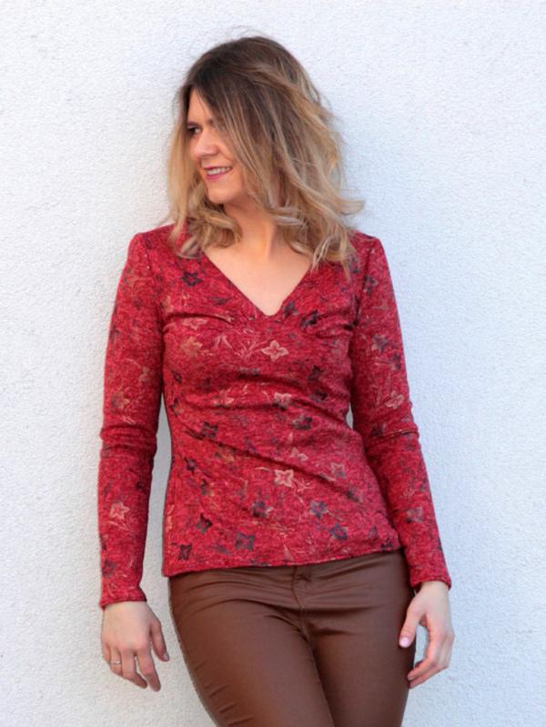 Yelda 36 Langarmshirt Rot