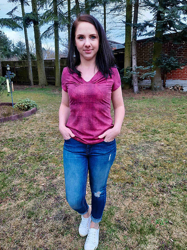 Yelda 36 Shirt Kurzarm Rosa