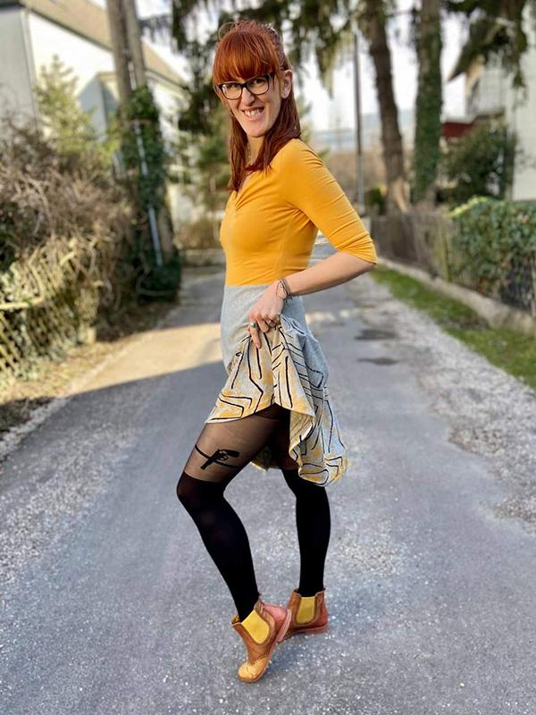 Yelda 38 Kleid 2 Teilig Ausgestellt