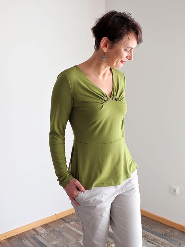 Yelda 38 Shirt Langarm Schoesschen Gruen38