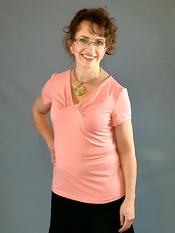 Yelda 40 Shirt Kurzarm Lachs