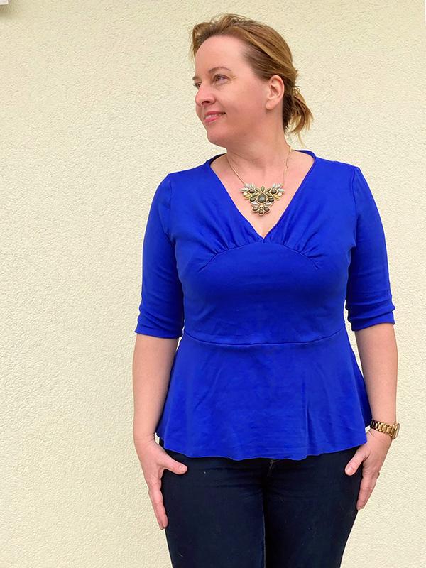 Yelda 42 44 Shirt 3 4 Aermel Schoesschen Blau