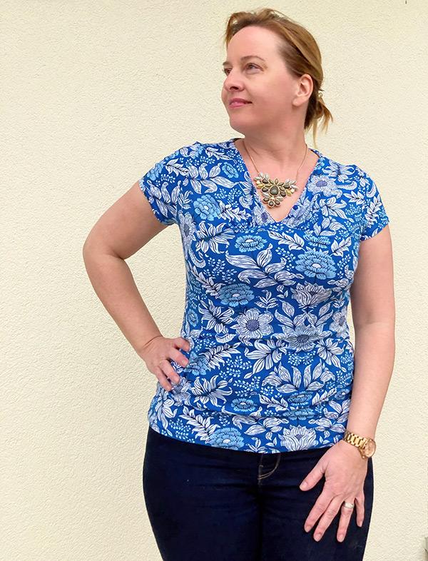 Yelda 42 44 Shirt Kurzam Blau
