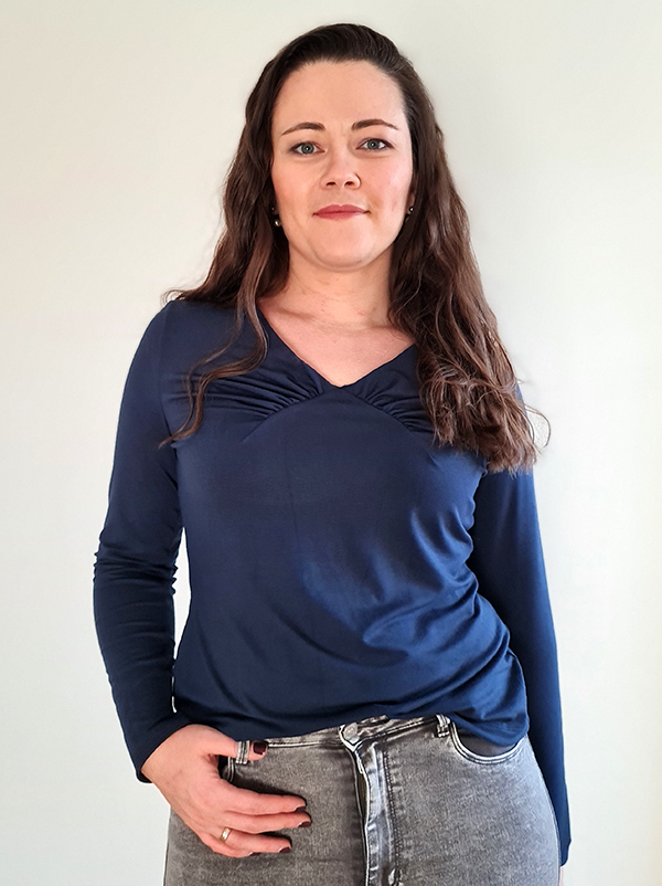 Yelda 42 P Shirt Langarm Blau