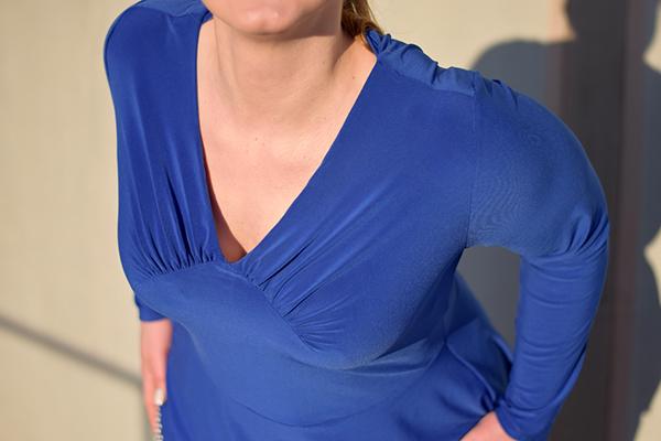 Yelda 46 Blau Langarm Detail