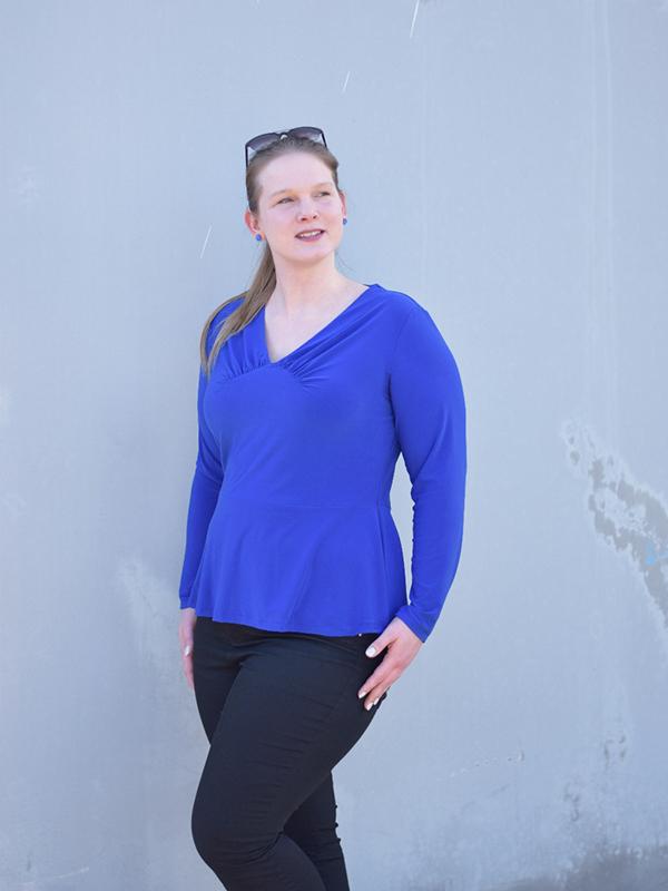 Yelda 46 Blau Langarm