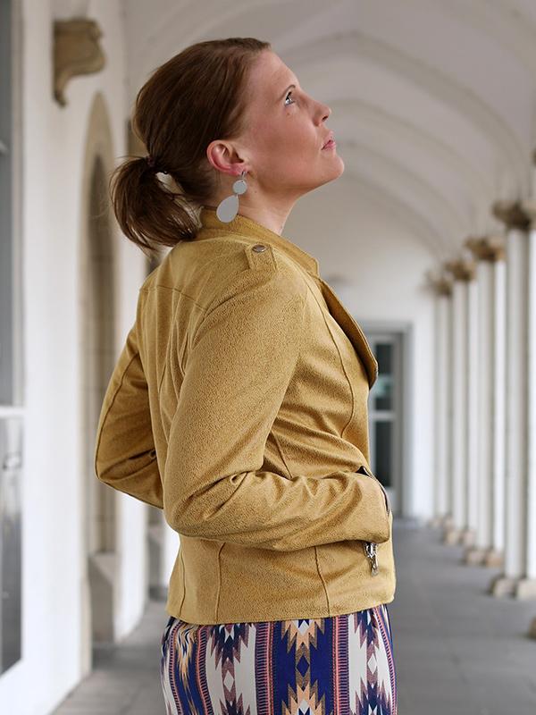 Lola 38 40 Kunstleder Ocker Schulterriegel