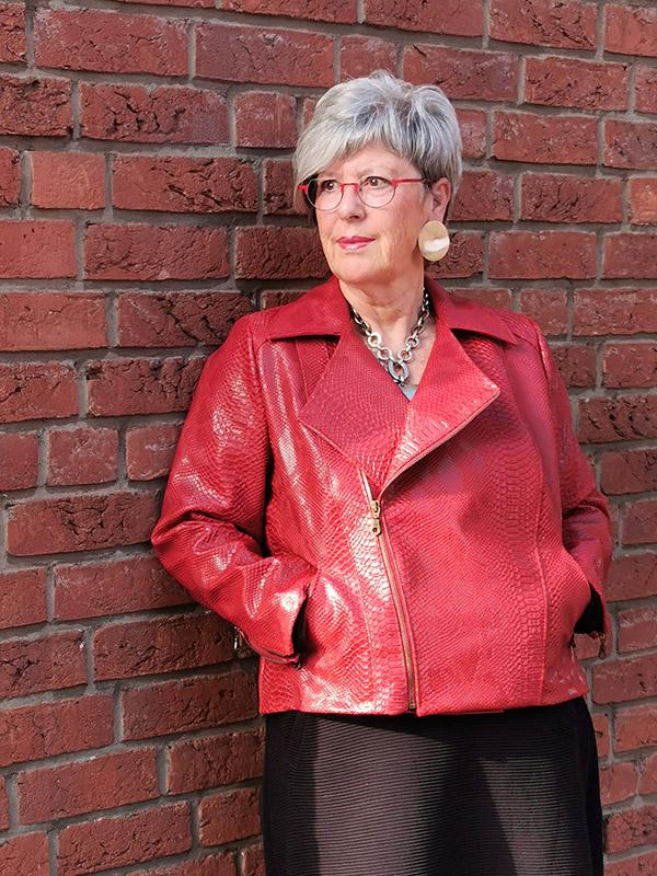 Lola 46 Kunsleder Rot