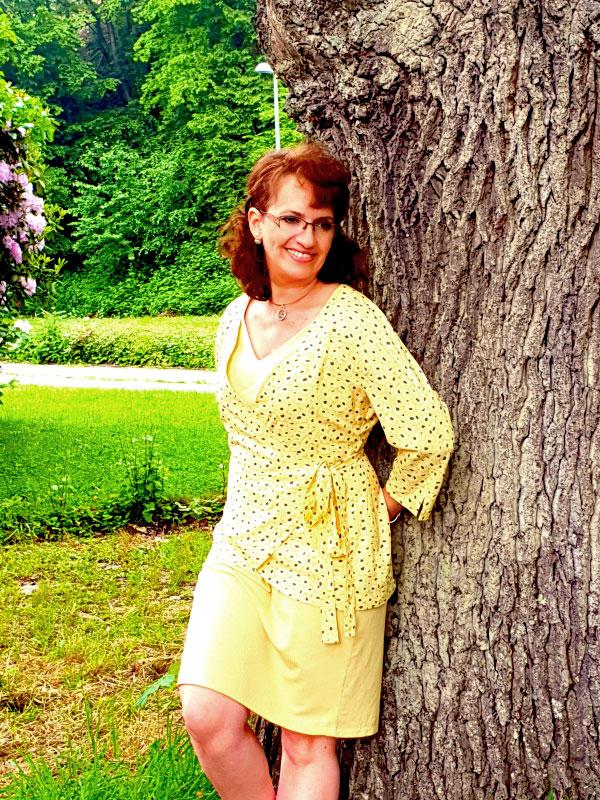 Oceanne 40 Gelb Auf Wave Kleid