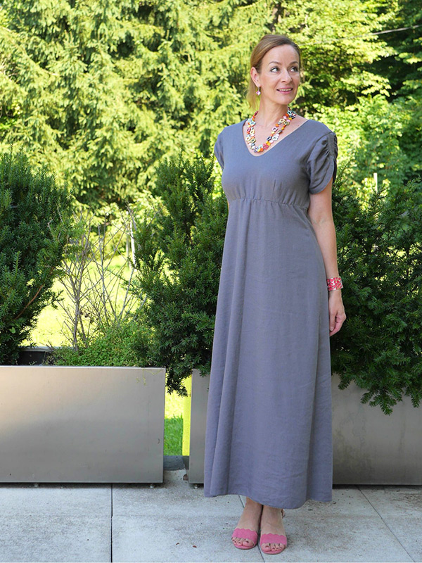 Lyana 40 Gerades Kleid Gummi