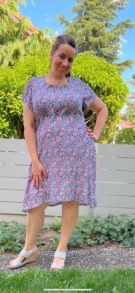 Lyana 46 Gerades Kleid Blau